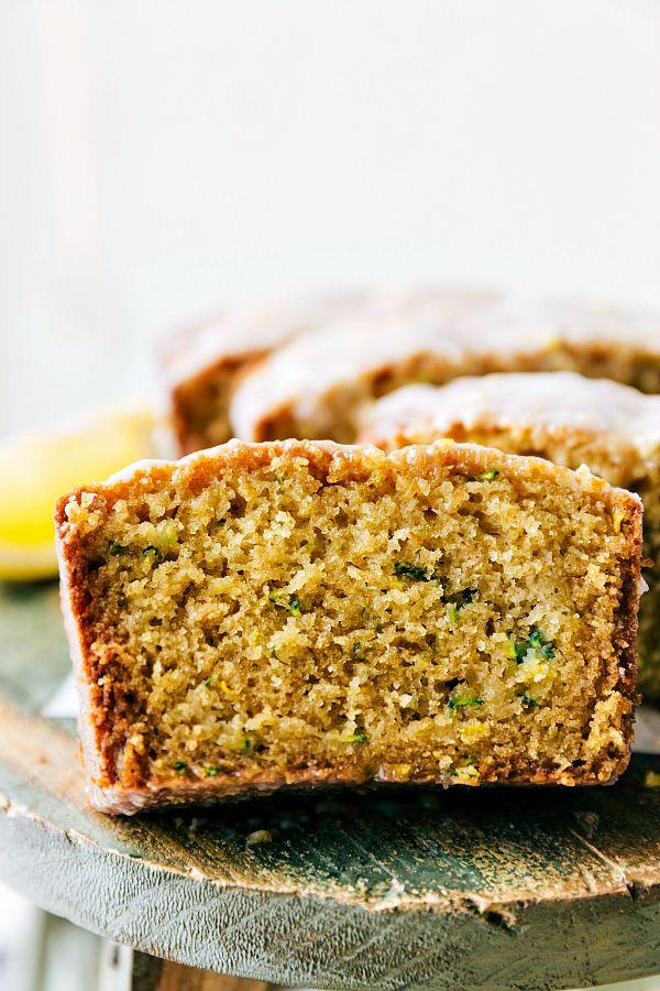Healthier Lemon GREEK YOGURT Zucchini Bread, Recipe from chelseasmessyapron.com