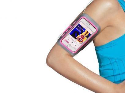 Braçadeira Esportiva para iPhone 6 6s Gran Duos - Geonav com as melhores condições você encontra no Magazine Familier. Confira!