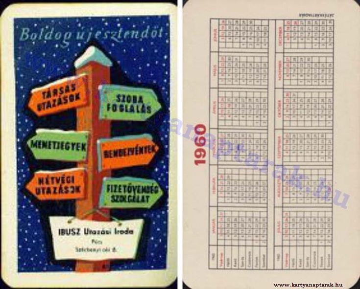 1960 - 1960_0092 - Régi magyar kártyanaptárak