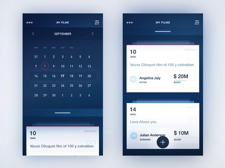 Info cards / Calendar - UI Movement
