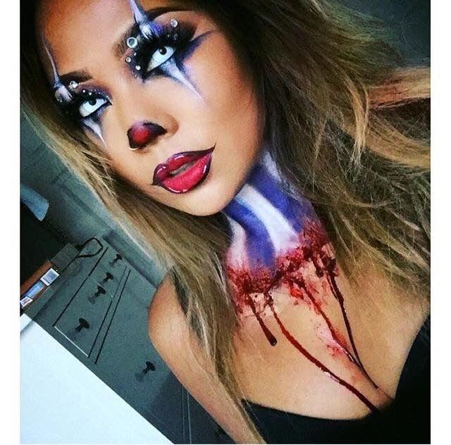 Resultado de imagen para maquillaje de arlequin de terror