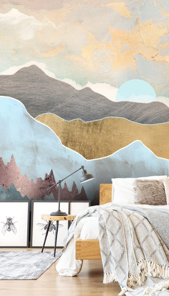 create a bedroom with a difference with this stunning winter lightcreate a bedroom with a difference with this stunning winter light wall mural click to