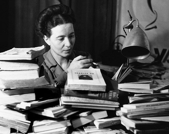 """When I was a child, when I was an adolescent, books saved me from despair: that convinced me that culture was the highest of values[...]."" -Simone de Beauvoir"