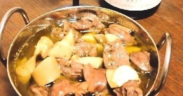 アヒージョを砂肝で作るレシピ。ひと味違ったおいしい一皿になって、お酒やご飯が進みますよ!