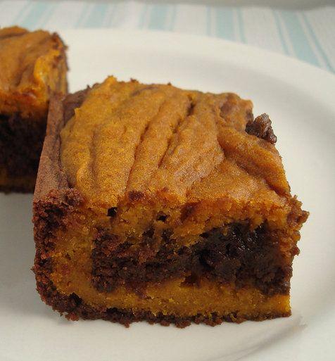 Recipe For Pumpkin-Swirl Brownies