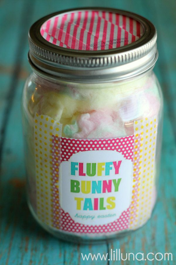 Fluffy Bunny Tails Easter Gift with free prints