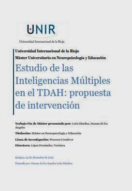 Estudio de las inteligencias múltiples en el TDAH