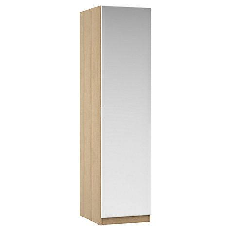 Buy House by John Lewis Mix it Mirrored Single Wardrobe, Natural Oak Online at johnlewis.com