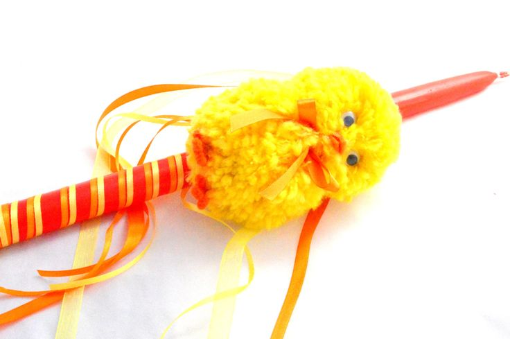 Greek Easter Candle . Chick Lampada . Easter Lampada. Handmade Chick Toy Candle . Baby Chicken Toy Lampada . Chick Easter Candle .  Λαμπάδα by FourSeasonsCreations on Etsy