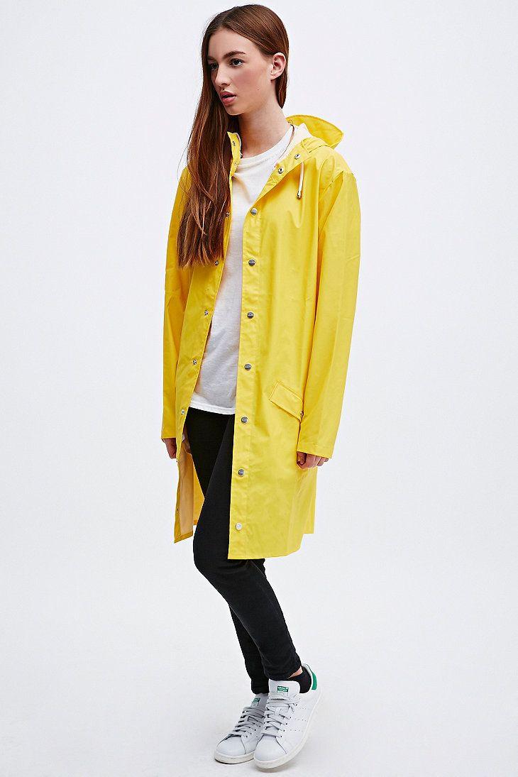 Rains Long Jacket in Yellow