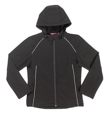 3HSJ1 JB's Ladies Hooded Soft Shell Jacket - BLACK - Sz 6 - 24 Waterproof coat