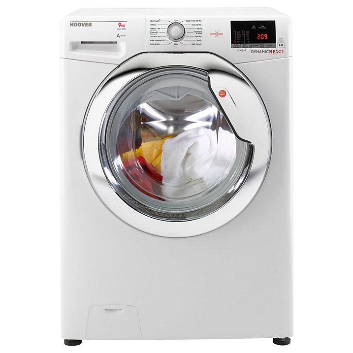Buy Hoover Dynamic DXOC69C3 Freestanding Washing Machine with One Touch, 9kg Load, A+++ Energy Rating, 1600rpm Spin, White Online at johnlewis.com