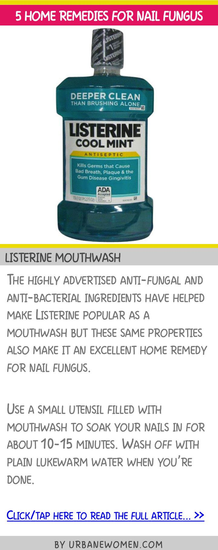 5 home remedies for nail fungus - Listerine mouthwash