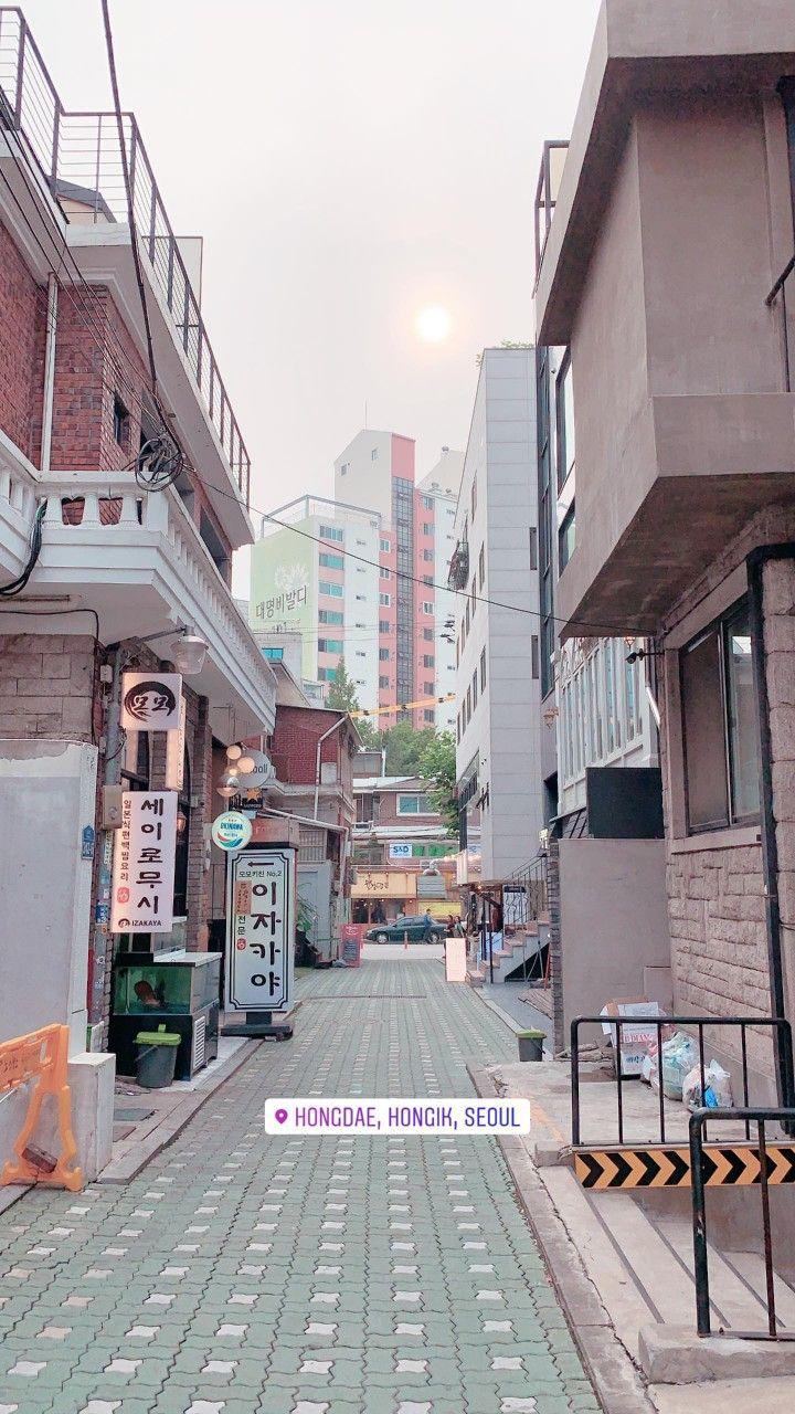 Hongdae Seoul Fotografi Perjalanan Pemandangan Fotografi Kota