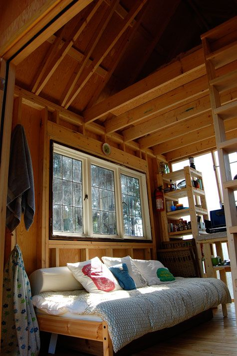 180 sq. ft. cabin fits 4 people and a dog.