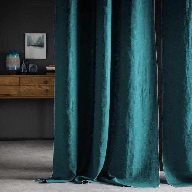 rideau bleu vert majgull rideaux occultant paire bleu vert with rideau bleu vert awesome. Black Bedroom Furniture Sets. Home Design Ideas