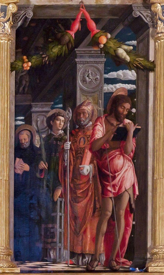 ANDREA MANTEGNA, particolare pala di san Zeno