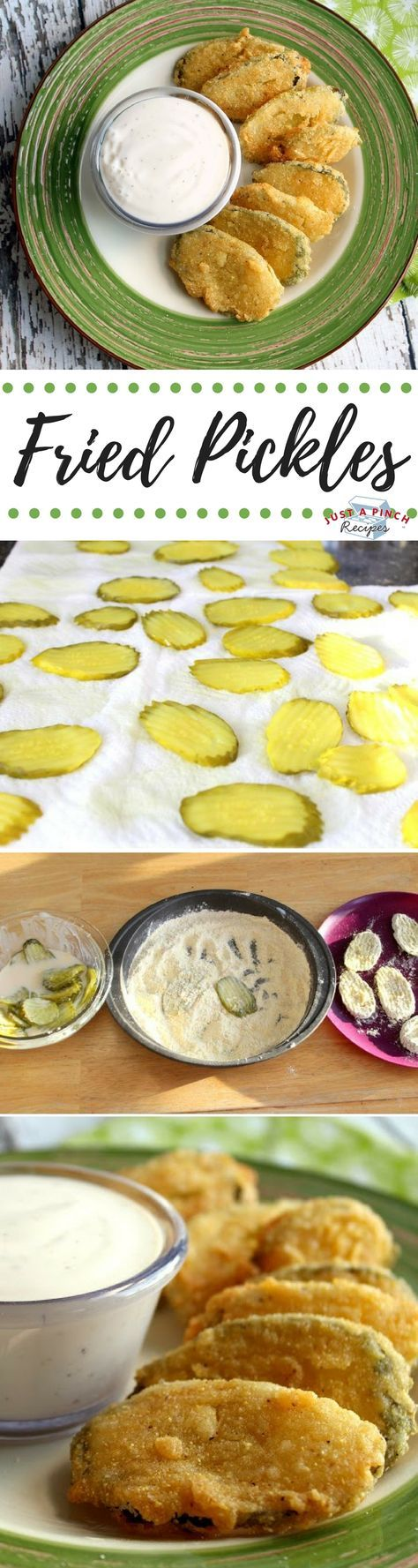 These fried pickle chips were tart, crunchy with just a hint of heat. They are easy to make and every pickle lover will eat them up. Yum! We love homemade fried pickles, aka frickles!!
