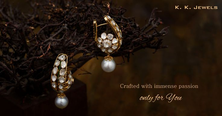 We put a lot of thought and effort into the creation of each ornament crafted at K.K.Jewels. We present before you a pair of earrings so exquisite that people get enchanted by its glimmering beauty. Embellished with pearls and polkis, these earrings are a 'must have' for your personal jewellery collection. #KKJewels #Jewellery #Ahmedabad  You can comment below or inbox us to inquire about the price and other details.