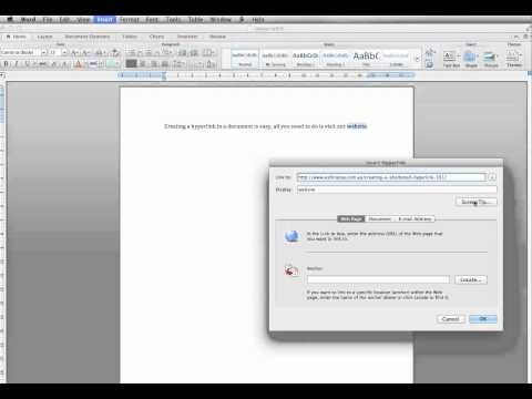 _How to create a shortened hyperlink in a document