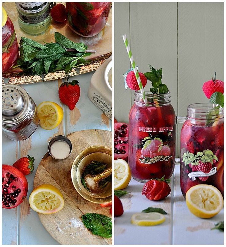 ... /Cooking Magazine - strawberry and pomegranate mojito. Recipe Mojito