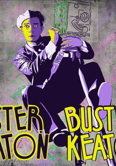 BUSTER KEATON.  Poster by Jonathan Parra
