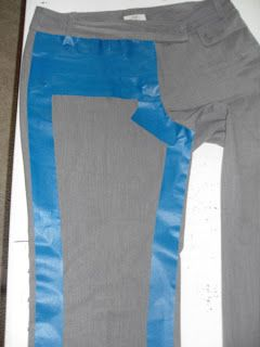 How to make a pattern from clothing that you want to duplicate using painter's tape--great