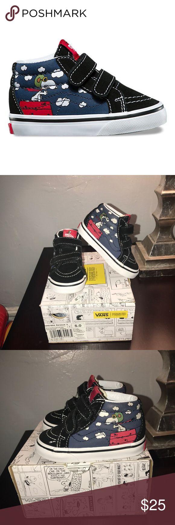 Vans x Peanuts Toddler Sneaker Lightly worn still in good condition minimal signs of wear . Vans Shoes Sneakers