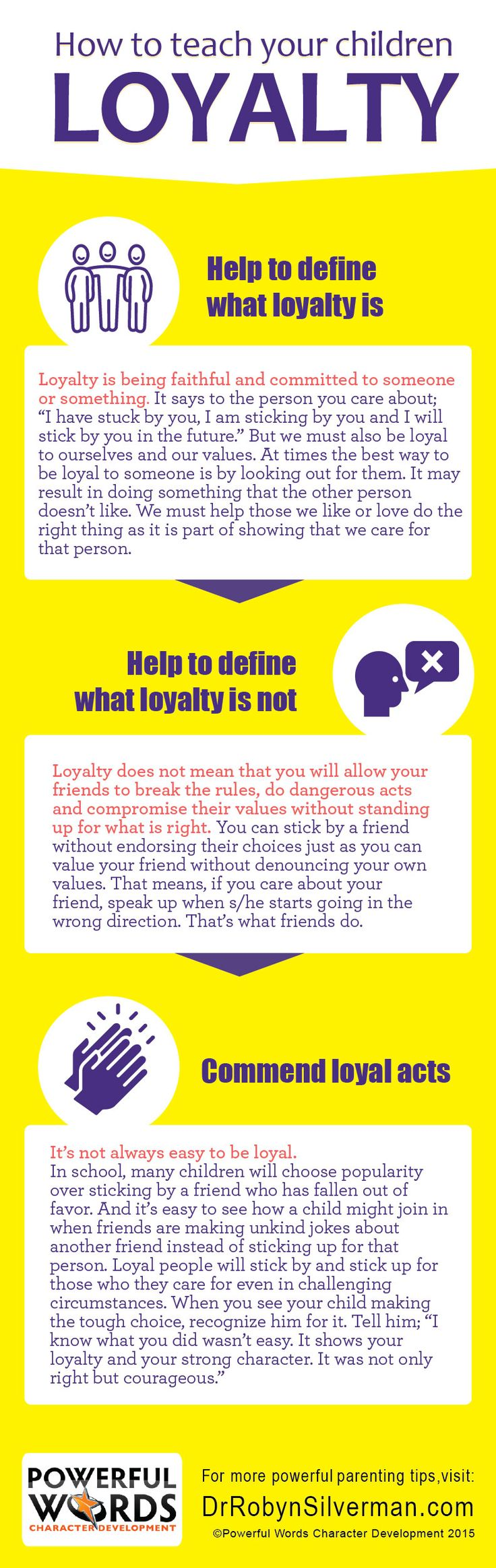 How To Teach Your Children Loyalty #powerfulwords #drrobyn #parenting