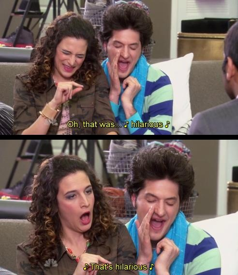 I can't even begin to describe how much I love Jean-Ralphio and Mona-Lisa. GAH.