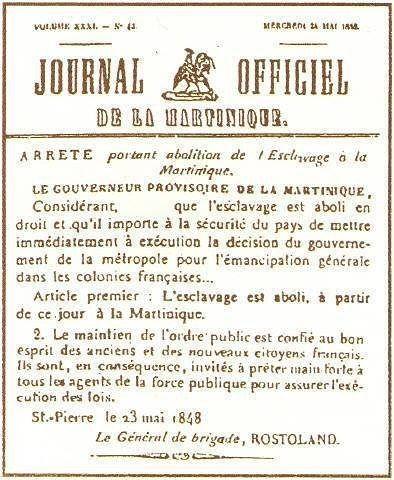 #NouKaSonjé: Jôdi sé 22 mé: 23 mai 1848 décret dabolition de l'esclavage à #Madinina  #22mé #Neg #Négrès #PétéChèn #FanmFô #Libèté #NoMoreSlavery #NeverForget  #Martinique #Matinik #Histoire #Abolition #Esclavage