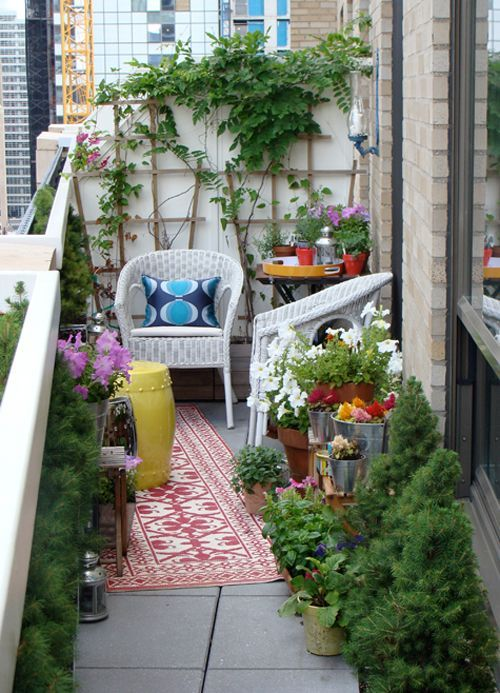 lovely inspiration for a small balcony www.homeology.co.za
