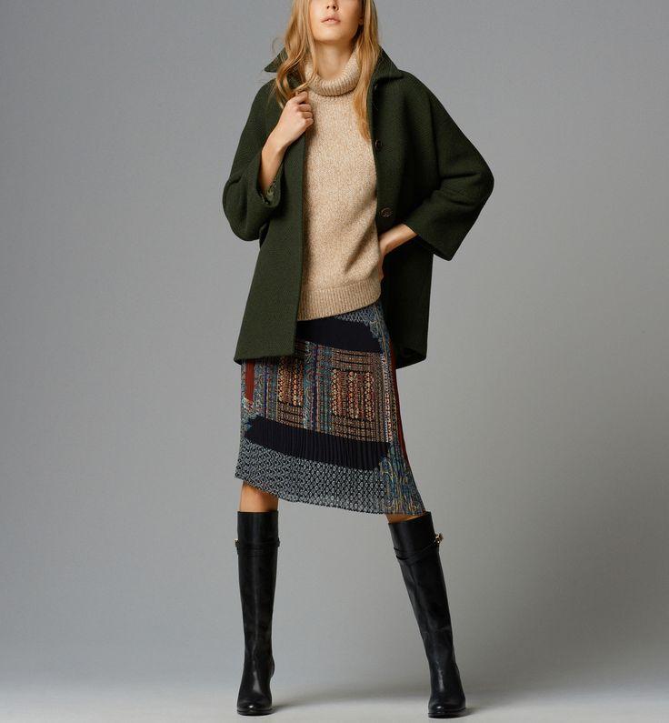 PRINT ACCORDION-PLEAT SKIRT - View all - Dresses & Skirts - WOMEN - United Kingdom