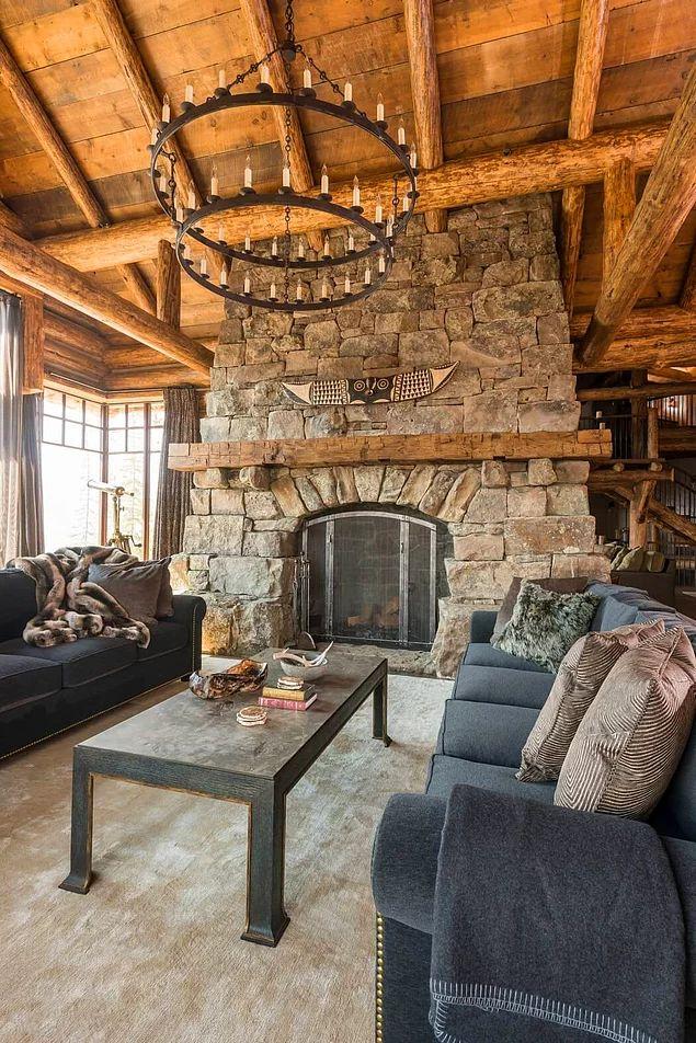 Die besten 25+ Rustikale lodge dekor Ideen auf Pinterest Hütte - traum wohnzimmer rustikal