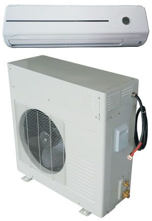 Solar-powered DC Air Conditioner