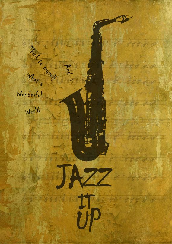 Letter J Jazz it up quote typography poster print A3 by MixPosters,