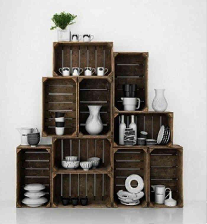 Cajas de madera 13 cajas de madera decoracion for Ideas con cajas de madera