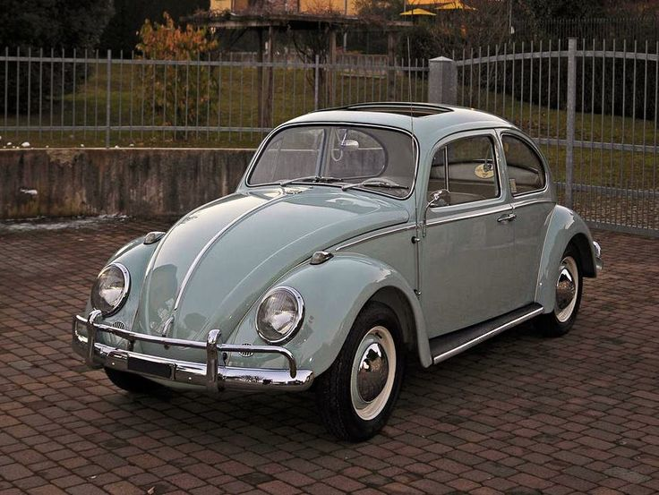 1965 Volkswagen 'Beetle' 1200. Add a chrome roof rack and really love this car In Mint green ...