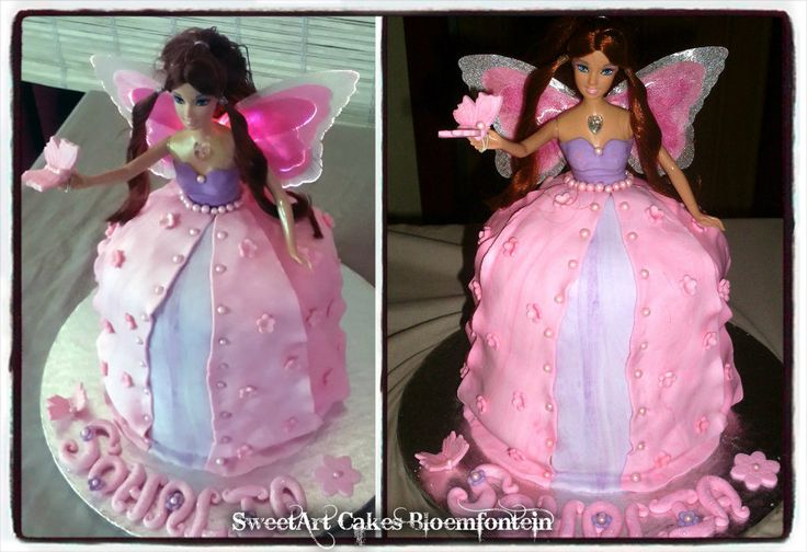 FAIRY CAKE with flashing light up wings.  (Limited stock available) For more information & orders email SweetArtBfn@gmail.com or call 0712127786