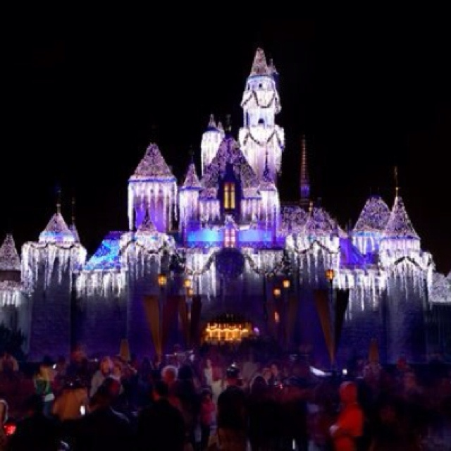 Castle at Christmastime 2010 Disneyland.