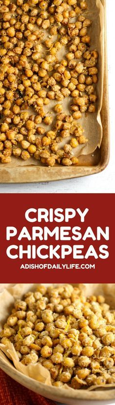 If you are looking for an easy-to-make healthy and delicious snack recipe, you have to try these Crispy Parmesan Chickpeas! Rich in nutrients important for your health and high in fiber, chickpeas may play a role in reducing the risk of heart disease, diabetes and cancer. What's better than a snack that helps keep you healthy?!