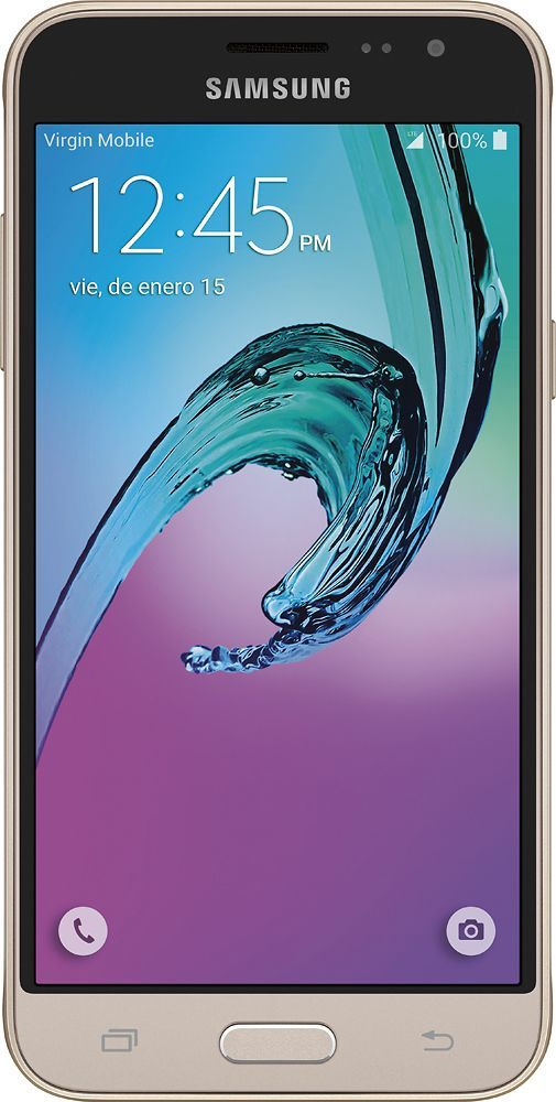 Samsung - Galaxy J3 4G LTE with 16GB Memory Cell Phone - Gold (Sprint)