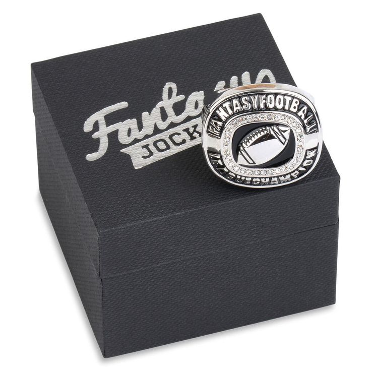 Fantasy Football Championship Ring Trophy (Silver)