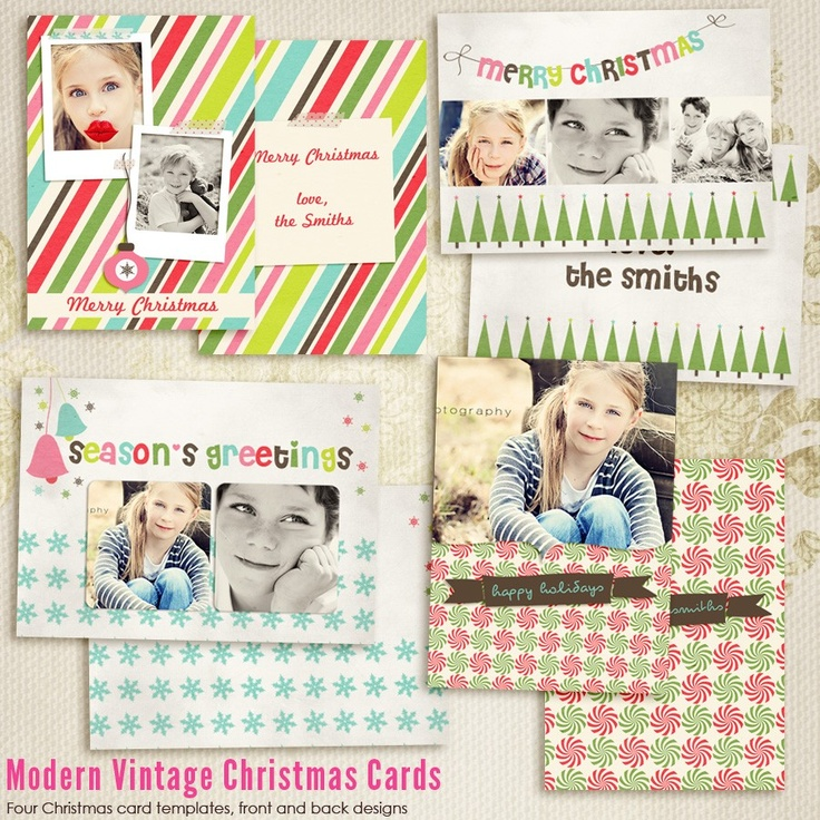 Best Photoshop Templates For Photographers Images On Pinterest - Christmas card templates for photographers 2