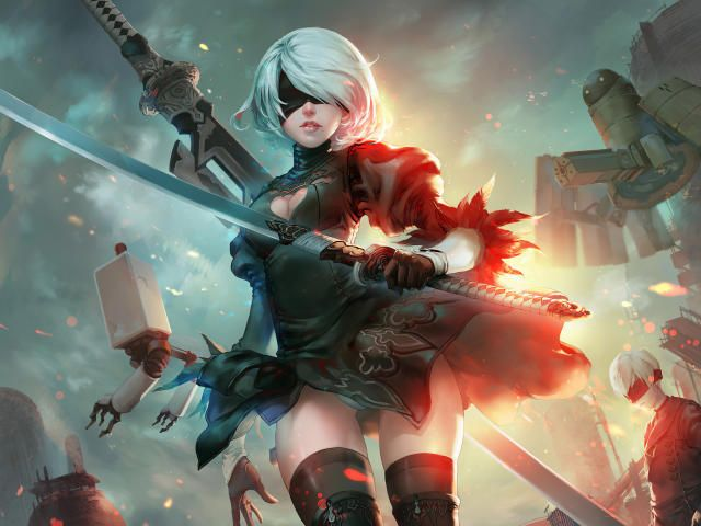 Download New Nier Automata Art Wallpaper Games Wallpapers Images Photos And Background For Desktop Windows 10 Macos Ap Nier Automata Automata Neir Automata Game anime hd wallpapers