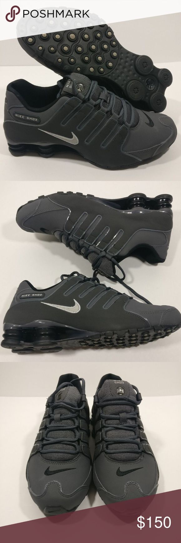 New Mens 9.5 Nike Shox NZ Running Shoe New Mens 9.5 Nike Shox NZ 378341-059 Dark Grey Anthracite Marathon Running Shoes  CONDITION :             Please note these are B grade. There is a mark on the toe box as shown in the pictures. Please view all pictures and description.   TAG SIZE: 9.5 Nike Shoes Athletic Shoes