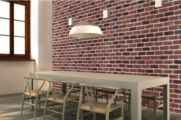 pierre de parement en pierre pierre mur en brique rouge mur en briques pinterest. Black Bedroom Furniture Sets. Home Design Ideas