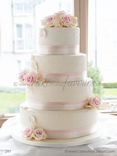 wedding cake mariage  ivoire rose floral chic cereza