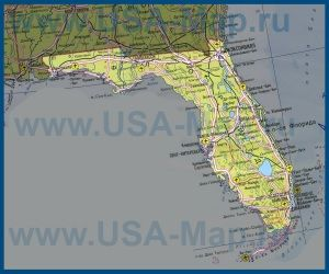 Карта Флориды на русском языке