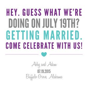 Sassy Save the Date Wording Free Template | AllFreeDIYWeddings.com